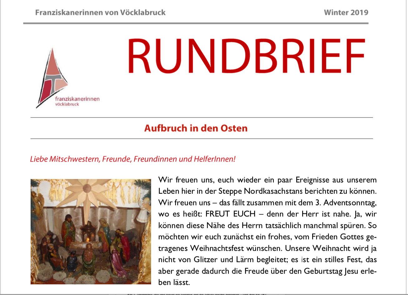 Rundbrief aus Kasachstan - Winter 2019