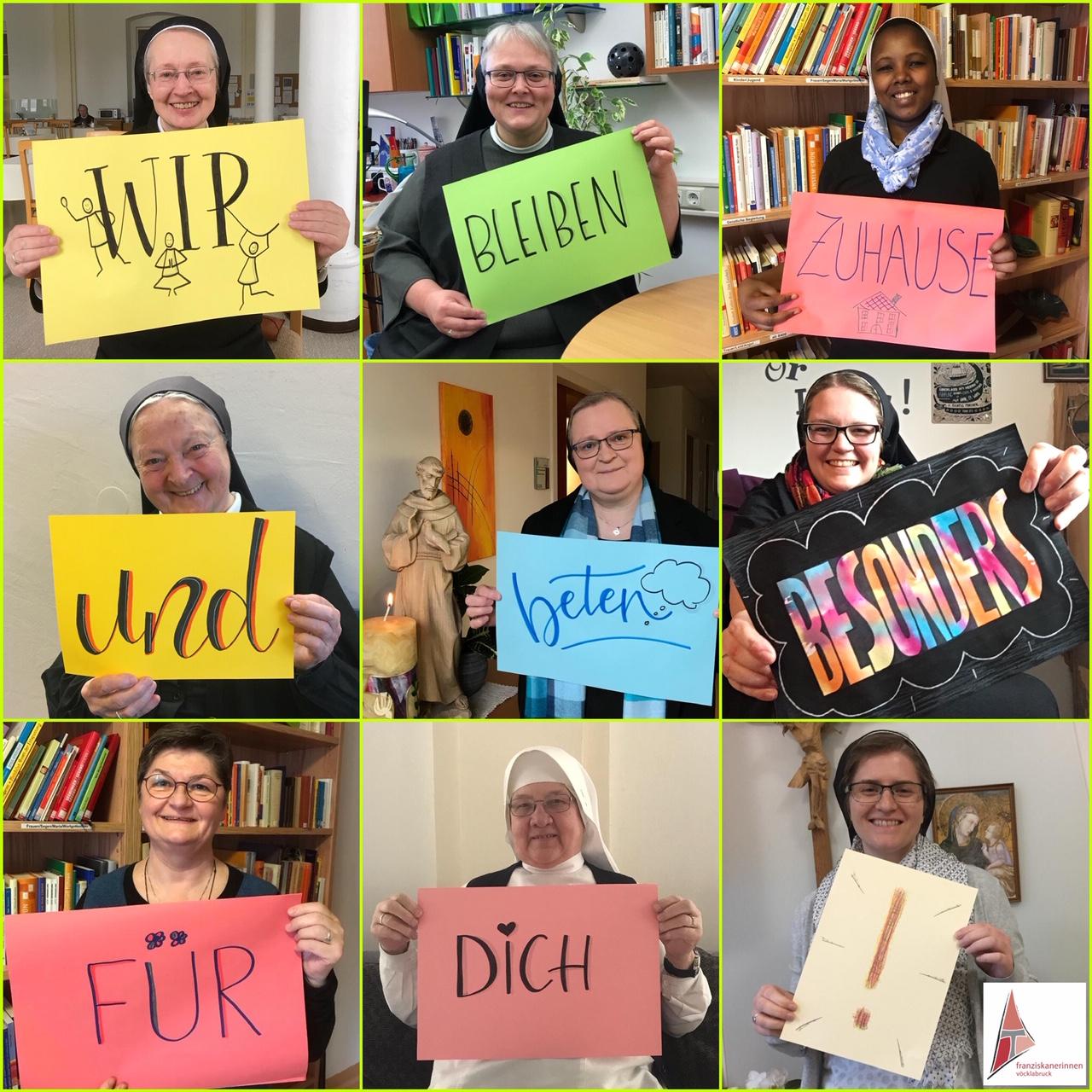 Franziskanerinnen von Vöcklabruck - Wir bleiben zuhause und beten für dich