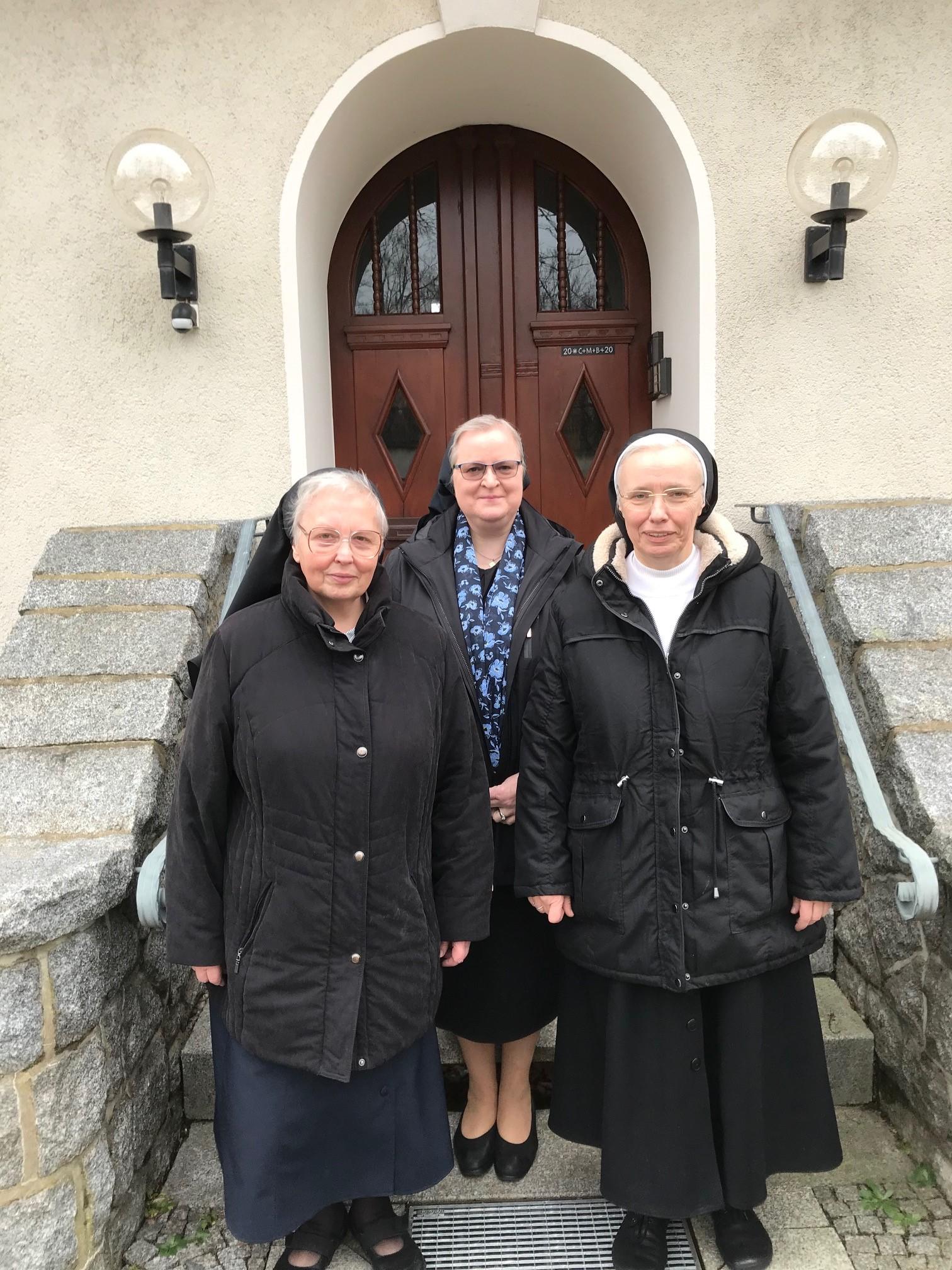 In Königsbrück: Sr. Agnes, Sr. Angelika, Sr. Luzia